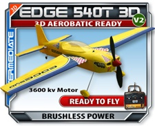 Edge 540T Brushless Version 2 RC RTF Electric Plane