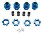Traxxas 17mm Wheel Hub Set Short Blue (4)