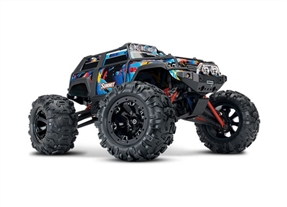 72054-5 - Summit: 1/16 Scale 4WD Electric Extreme Terrain Monster Truck. Ready-To-Race® with TQ 2.4 GHz radio system, XL-2.5 ESC (fwd/rev). Includes: 6-Cell NiMH 1200mAh Traxxas® battery and AC charger