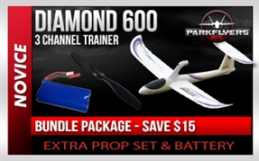 Diamond 600 Radio Control Airplane BUNDLE PACKAGE