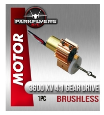 3600 kv Brushless Motor with 4:1 Gear Drive