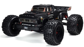 ARA8611V5T1 1/8 NOTORIOUS 6S V5 4WD BLX Stunt Truck with Spektrum Firma RTR, Black