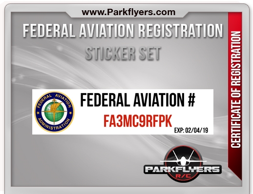 Federal Aviation Registration Sticker Set