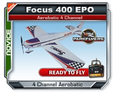 Focus 400 EPO RTF Electric RC Plane