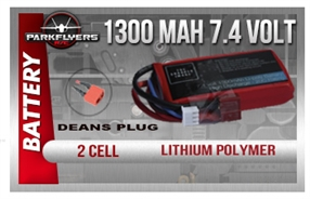 Cessna 182 Pro Series Li-Poly Battery (7.4v 1300 mAh)
