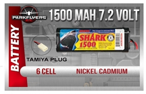 Duratrax Shark 1500Mah 6 Cell, 7.2 Volt NiCd Battery