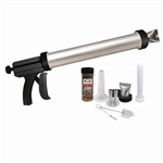 Weston Jerky Gun - Aluminum Chamber with 2 Stainless Steel Attachments for jerky, snack sticks