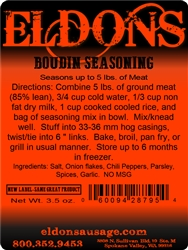 Boudin Seasoning - For 12.5#