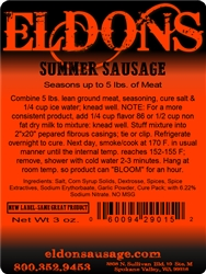 Summer Sausage Seasoning - For 5#