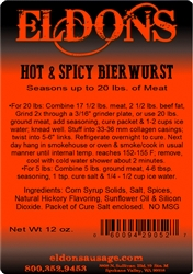 Hot and Spicy Bierwurst Seasoning - For 20#