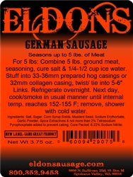 German Sausage Seasoning - For 5#