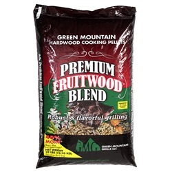 GREEN MOUNTAIN GRILLS PREMIUM FRUITWOOD BLEND PELLETS