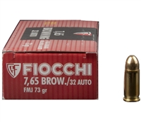 FIOCCHI 32 AUTO /7.65 BROWNING 73GR FMJ