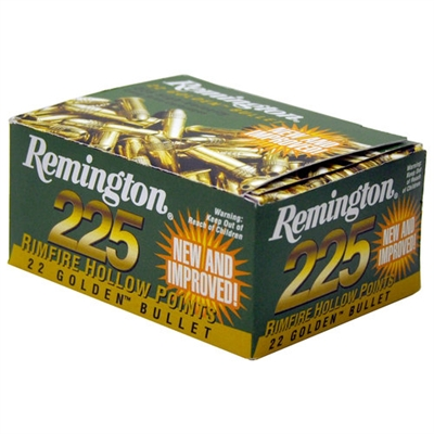 REMINGTON 22LR GOLDEN BULLET 225 RND BOX 36GR