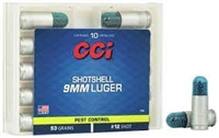 CCI SHOTSHELL 9MM LUGER 10 RNDS 1/8OZ #12 SHOT 64GR