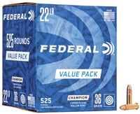 FEDERAL 525 RND VALUE PACK 22LR 36GR HP HV