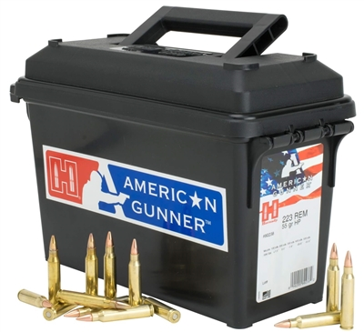 Hornady American Gunner 223 Rem HP 55gr  247 rounds with Range Can