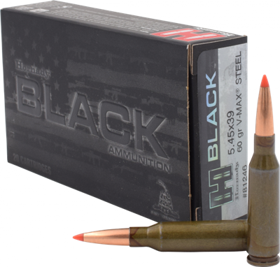 HORNADY BLACK 5.45X39 20RND BOX V-MAX STEEL