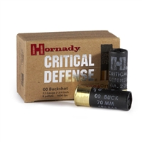 HORNADY CRITICAL DEFENSE BUCK SHOT 00 12GA 10RND BOX