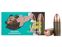 BROWN BEAR 9MM LUGER 115GR FMJ 50 RND BOX