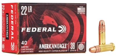 AMERICAN EAGLE 22LR 400 RND BRICK HV 38GR *NO LIMITS*