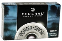 FEDERAL 12GA 3IN BUCKSHOT 15 PELLETS 00 BUCK 5 RNDS