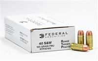 FEDERAL 40 S&W 1000 RND CASE 165GR FMJ * FACTORY BRASS AMMO NO LIMITS