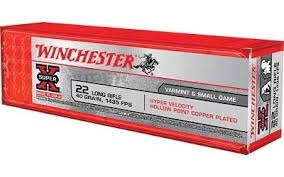 WINCHESTER 22LR 40 GR 1435 FPS COPPER PLATED HP  100 RND BOX