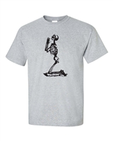 Praying Skeleton Halloween Men's T-Shirt (230)