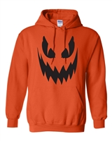 Pumpkin Scary Face Halloween Men's HOODIE (334)
