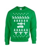 Ugly Christmas Sweater Design CREW Sweatshirt (B116)