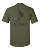 Navy Seal Team 10 Skeleton Frog with Spear FRONT AND BACK Men's T-Shirt (716)