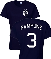 Christie Rampone US Soccer Front & Back JUNIOR FIT Ladies T-Shirt (1088)