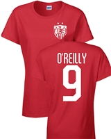 Heather O'Reilly US Soccer Front & Back JUNIOR FIT Ladies T- Shirt (1189)