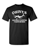 Quint's Shark Fishing - Jaws Retro White Print Men's T-Shirt (1206)