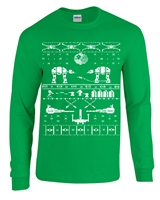 Star Wars Christmas Ugly Sweater LONG SLEEVE Men's T-Shirt (B120)