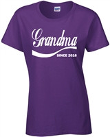 Grandma Since 2016 Ladies JUNIOR FIT T-Shirt (1339)
