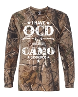 I Have OCD-Obsessive Camo Disorder Real Tree Men's LONG SLEEVE T-Shirt (1370)