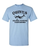 Quint's Shark Fishing - Jaws Black Print Men's T-Shirt (1412)
