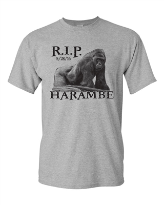 Harambe The Gorilla RIP Cincinnati Zoo Men's T-Shirt  (1419)