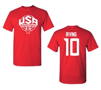 USA Men's Basketball Kyrie Irving #10 Front&Back Men's T-Shirt (1437)