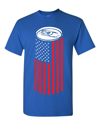 Beer Can American Flag Men's T-Shirt (1440)