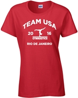 Gymnastics Team USA Rio Junior Fit Ladies T-Shirt (1472)