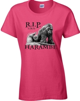 Harambe R.I.P. Ladies Junior Fit T-Shirt (1419)