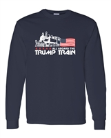 All Aboard The Trump Train Men's LONG SLEEVE T-Shirt (1548)
