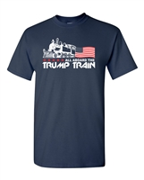 All Aboard The Trump Train Men's T-Shirt (1548)