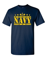 Navy Proud Dad Men's T-Shirt (1544)