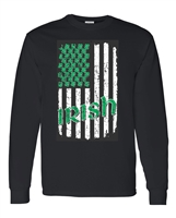 St. Patrick's Day Irish US Flag Crew Sweatshirt (1587)