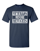 Veterans Before Refugees Men's T-Shirt (1591)