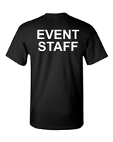 Event Staff PRINTED ON THE BACK Men's T-Shirt (1607)